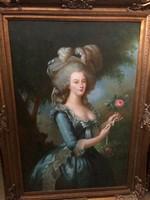 Mária Antónia francia kiràlyné festmény