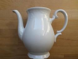 Régi Zeh Scherzer Bavaria fehér porcelán kiöntő kanna (tető nélkül) 7 dl