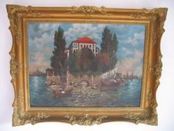 Gyönyörű, antik festmény, antik keretben