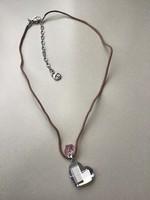 Swarovski zsinór nyaklánc kristály medállal