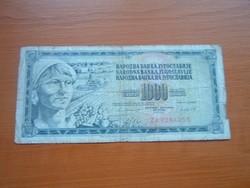JUGOSZLÁVIA 1000 DINÁR 1981 ZA előtag ZA