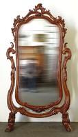 0V258 Antik barokk gyönyörű egész alakos tükör