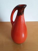 Retro,vintage,piros fekete kancsóváza,váza,retró kerámia,magyar kerámia váza