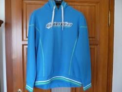 Lotto kék kapucnis pulóver
