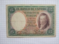 Ritka 25  Peseta Spanyolország 1931 !!