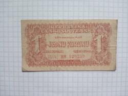 1 Korona Csehszlovák  1944 !!