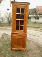 Gyönyörű minőségi tömör fa vitrines szekrény / sarokvitrin