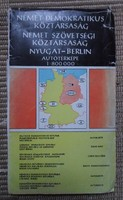 NDK, NSZK, Nyugat-Berlin autótérképe, 1977 (autós térkép, Németország)