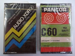 2 darab régi bontatlan audio kazetta