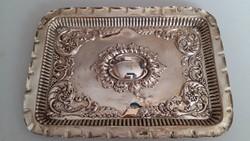Sheffieldi antik ezüst tálca 1907-1908.