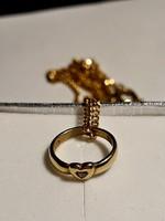 Apró köves medál + lánc szett keresztelőre - díszdobozban (jelölt arany)