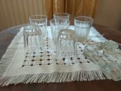 Vastag falú üveg poharak  ST