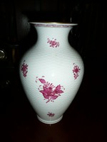 24 cm-es jelzett Apponyi mintás hibátlan Herendi váza