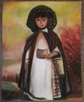 Gyönyörű pasztell rajz. 40x50cm Anna Margit aláírással. Keret nélkül.