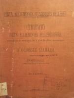 /1905/ postai küldemények felszerelési kellékei./ útmutató/13 mintával és 7 táblázattal!!1905!