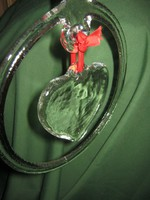 Dekorációs üveg szív