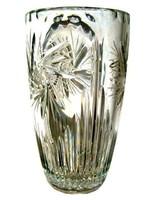 Gyönyörű metszésű súlyos ólomkristály váza