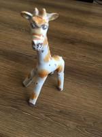Érdekes zsiráf kerámia figura