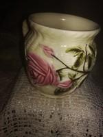 Rózsás fajansz csésze