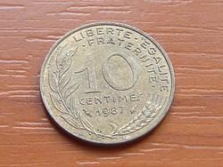 FRANCIA 10 CENTIMES 1987