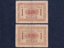2 db Szerb-Horvát-Szlovén Királyság 1 dínár 1919/id 6581/
