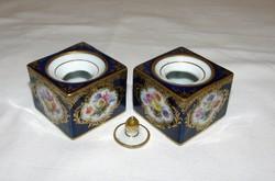Antik tintatartó Meissen porcelán 2 db