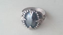 "Ezüst ""BERRAK sterling silver gyűrű hematit kővel"