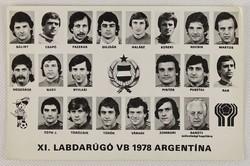0V435 Régi Labdarúgó VB 1978 képeslap