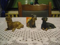 Retro játék kutya figura - három darab