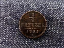 1/2 Kreuzer 1851 B (id5316) réz,forgalmi