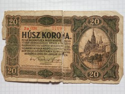 Viseletes 20 Korona 1920 !! Ragasztott !