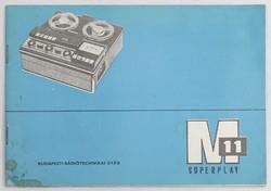0V396 M-11 magnetofonkészülék kezelési utasítása