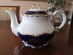 Zsolnay Pompadour/pompadúr 1-es, aranyozott teáskanna hibátlan