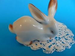 Zsolnay porcelán nyuszi, nyúl   figura