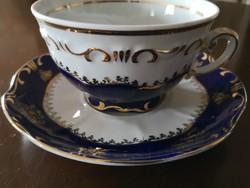 Zsolnay Pompadour/pompadúr 1-es teáscsésze aljjal, hibátlan