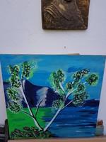 Festmény falapon, kb.50x50, falra kész