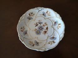 Zsolnay búzavirágos, dúsan festett süteményes tányér 16 cm, hibátlan, új