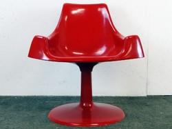 0E066 Retro design piros fotel