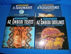 Megmagyarázzuk a... 4 db-os gyönyörű lexikon, tudományos könyv sorozat 1996-1997-ből