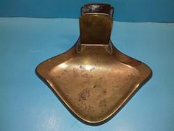 Antik bronz gyufa + hamutartó GESCHÜTZT REAL BRONCE