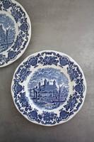 Wedgwood kék angol porcelán,sütis