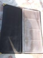 Új bőrkötésű névjegy-bélyeg-éremtartó vagy más célra 40 fakk