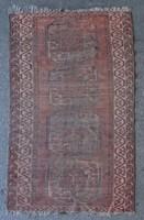 0V252 Antik barna elefánttalpas afgán szőnyeg