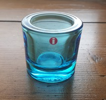 Iittala/Marimekko üveg mécsestartó by Heikki Orvola