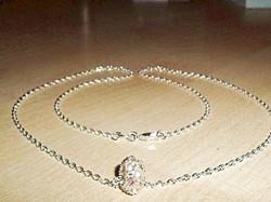 Swarovski Kr .Ezüst Gyöngy 925 ezüst - fehérarany Nyaklánc