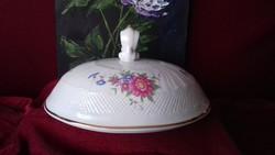 Hollóházi porcelán levesestál fedő / tető hiánypótlásra - Hajnalka