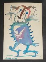 Szeift Béla: Tojó galamb. Akvarell papír.