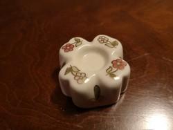 Zsolnay mini gyertyatartó kicsi virággal, hibátlan