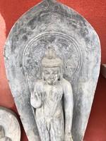 Antik márvány buddha keleti faragvány