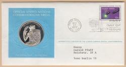 1977. United Nations alk. érmés FDC (22,7g 925-ös Ag; PP) T:1